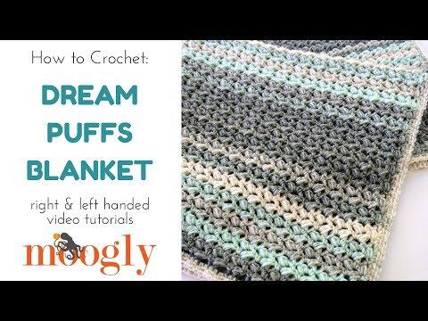 Dream Puffs Blanket Tutorial - moogly
