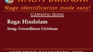 Raga Hindolam: Arohanam, Avarohanam and Alapana | Raga Surabhi