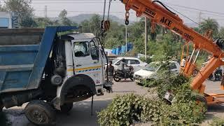 Baddi Nalagarh road accident || baddi pinjore highway || truk accident