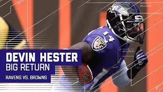 Devin Hester Hurdles Defender for Big Return! | Ravens vs. Browns | NFL