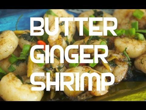Paano magluto Butter Ginger Prawn Pinoy Style Recipe - Tagalog English Shrimp Filipino cooking Hipon