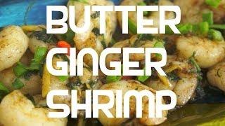 Paano magluto Butter Ginger Prawn Pinoy Style Recipe - Tagalog English Shrimp Filipino cooking Hipon