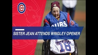 Sister Jean, Cubs legends toss first pitches