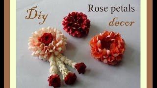 Do it yourself Rose petals decor