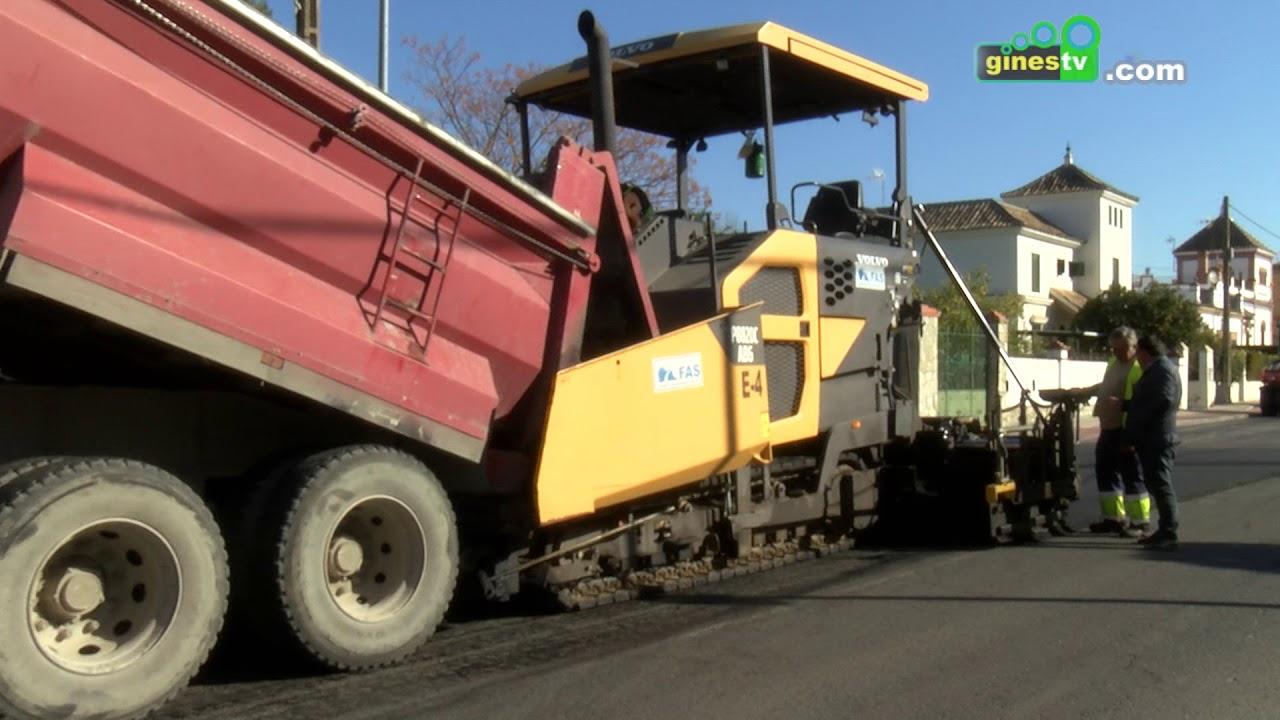 Gines invierte 368.000 euros en mejorar el asfaltado de una treintena de calles