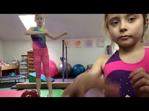 Gymnastics Competition Jeanne & Makena- Judged & Scored