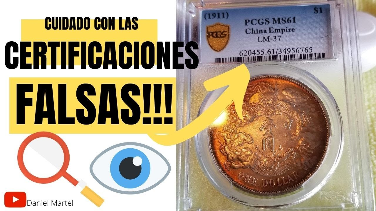 CUIDADO!! Monedas CERTIFICADAS FALSAS!! Aprenda a IDENTIFICARLAS