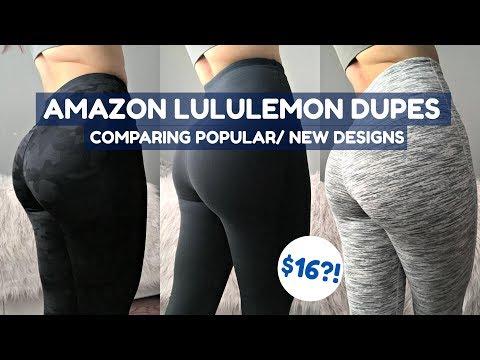 f27e99ac76 LuluLemon Dupes/ Knockoffs?! PT.2 | $16?! | Affordable Amazon Activewear  Legging Try On Haul - YouTube