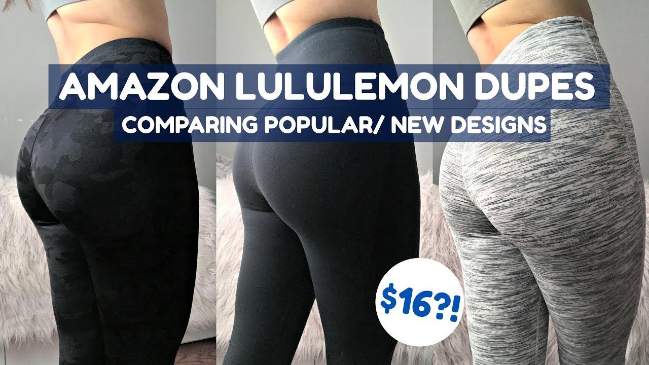 0d1b431922 LuluLemon Dupes/ Knockoffs?! PT.2 | $16?! | Affordable Amazon Activewear  Legging Try On Haul