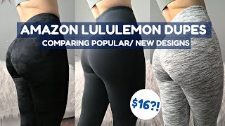 LuluLemon Dupes/ Knockoffs?! PT.2 | $16?! | Affordable Amazon Activewear Legging Try On Haul