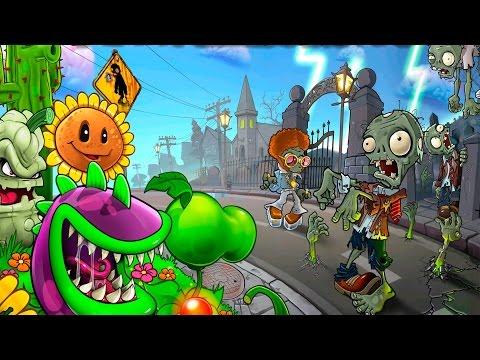 Зомби против Растений веселая игра про зомби на телефон видео для детей игра монстры
