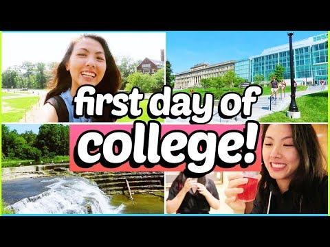 🚌FIRST DAY OF COLLEGE VLOG + GRWM 2018: Freshman @ Cornell University | Katie Tracy