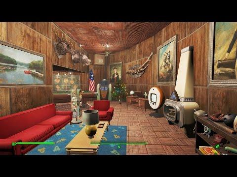 Fallout 4 Pre War Themed Home Plate Settlement Tour