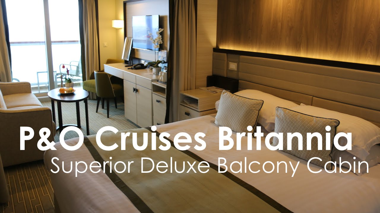 P o cruises britannia superior deluxe balcony cabin youtube for Deluxe balcony