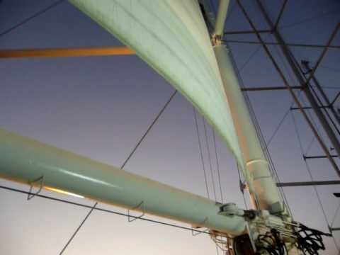 Setting sail on the Wind Star from Puerto Caldera, Costa Rica