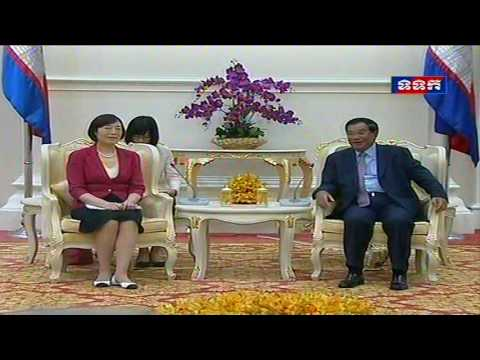 14 OCT 2016 Chairwoman of Export-Import Bank of China Pays Courtesy Call on Cambodian PM
