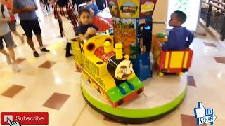 Prince and Princess Ride on Jasper the Steam Engine Carousel kiddie Ride| Kids' Carousel Ride.