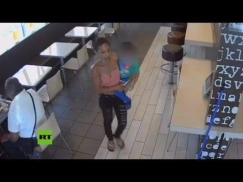 Una mujer trata de secuestrar con total naturalidad a un niño de 4 años de un McDonald's