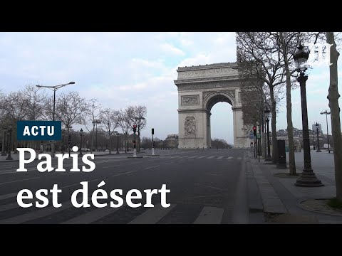 Coronavirus: les rues de Paris désertées en plein confinement