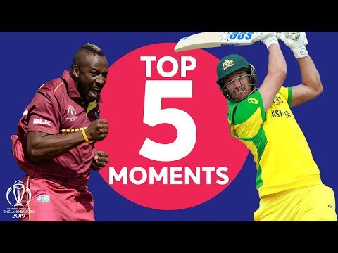 Russell? Coulter-Nile? Starc?   Australia Vs Windies - Top 5 Moments   ICC Cricket World Cup 2019