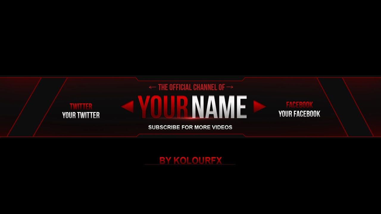 youtube banner template by kolourfx 2 youtube. Black Bedroom Furniture Sets. Home Design Ideas
