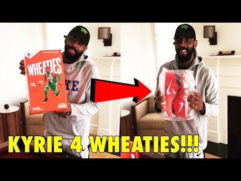 """Kyrie Irving receives his LIMITED EDITION Nike Kyrie 4 """"Wheaties"""""""