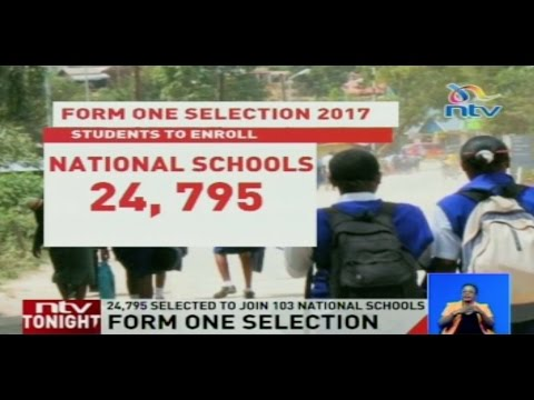 Form One Selection: Form 1 admission letters posted online
