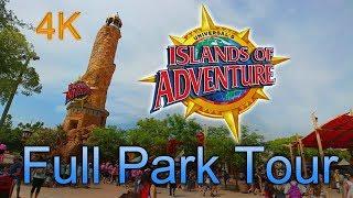 [4K] Full Park Tour - Islands of Adventure