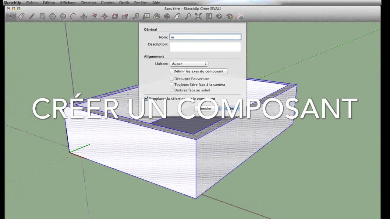 Sketchup faire une maison 1 youtube for Maison moderne sketchup