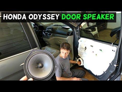 Honda Odyssey Front Door Speaker Removal Replacement Youtube