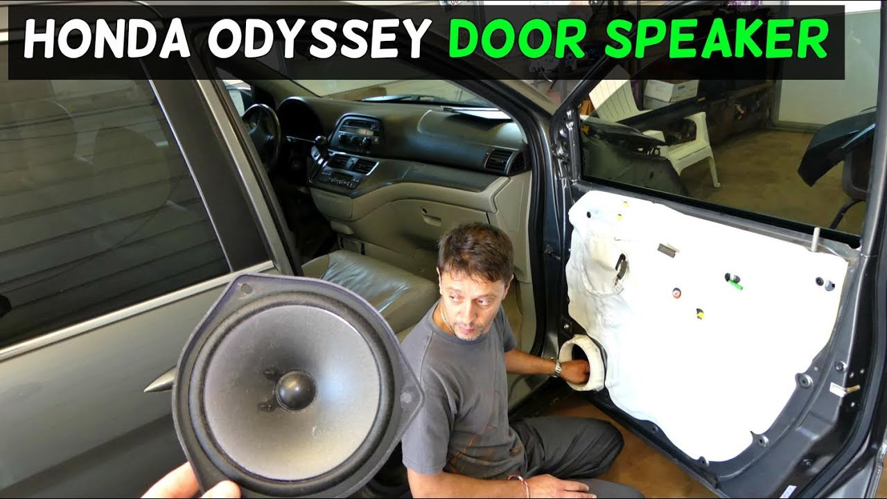 2017 Honda Odyssey >> HONDA ODYSSEY FRONT DOOR SPEAKER REMOVAL REPLACEMENT - YouTube