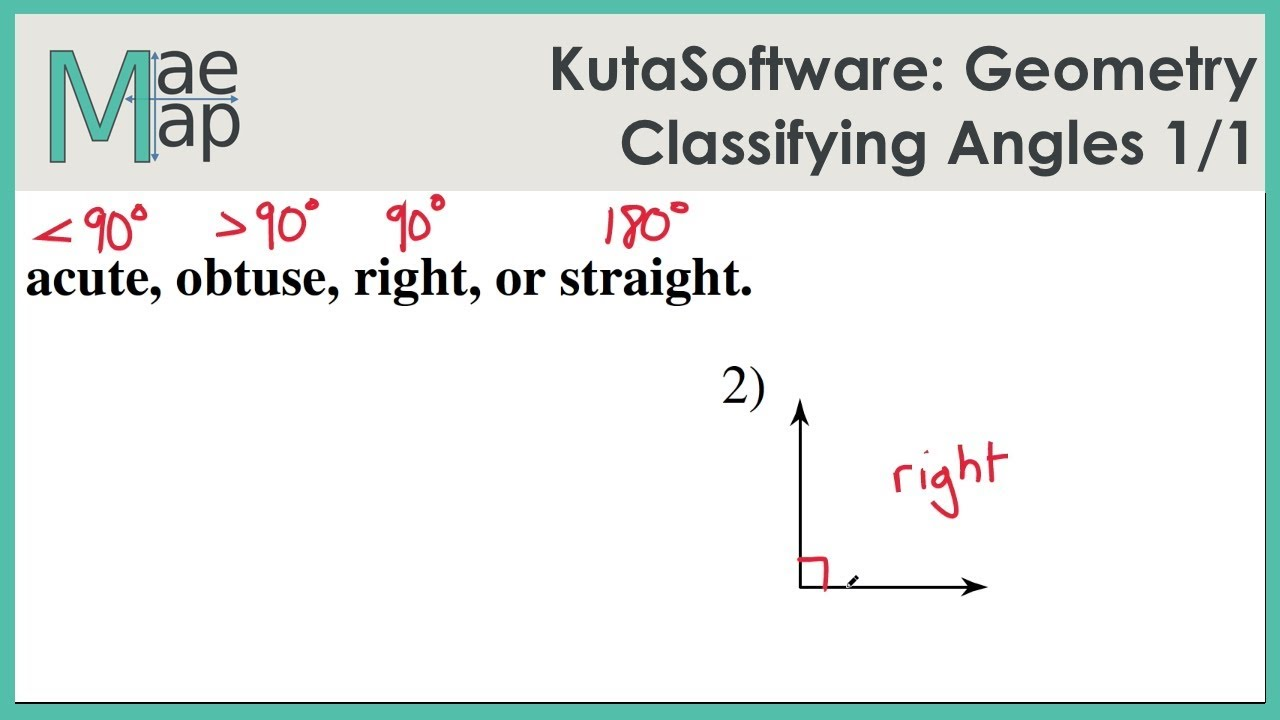 worksheet Classifying Angles kutasoftware geometry classifying angles youtube angles