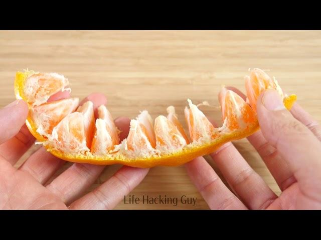 3 Amazing Ways to Peel Mandarin Oranges in Japan【Life Hack】