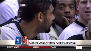 Joey Crawford Ejects Duncan for Laughing