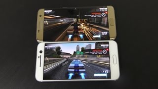 HTC 10 vs Samsung Galaxy S7 Edge - Gaming Comparison!