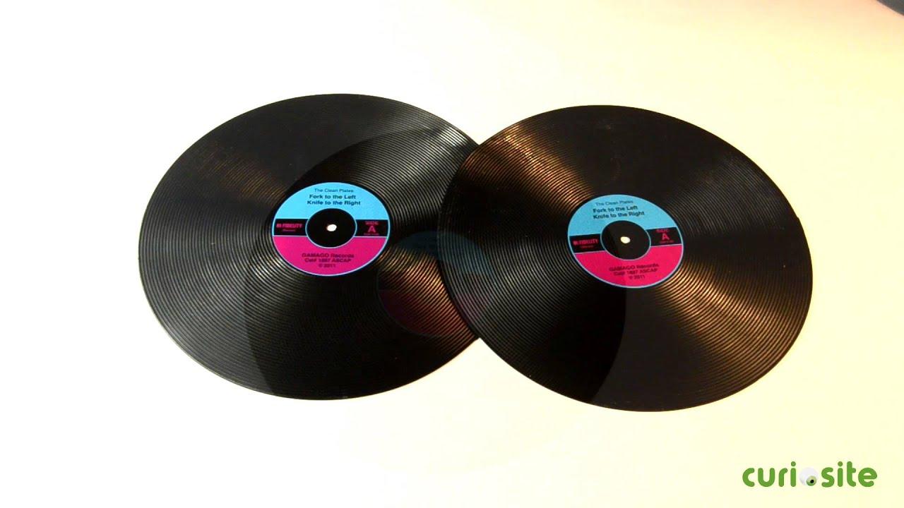 Manteles individuales discos de vinilo youtube - Individuales para mesa ...