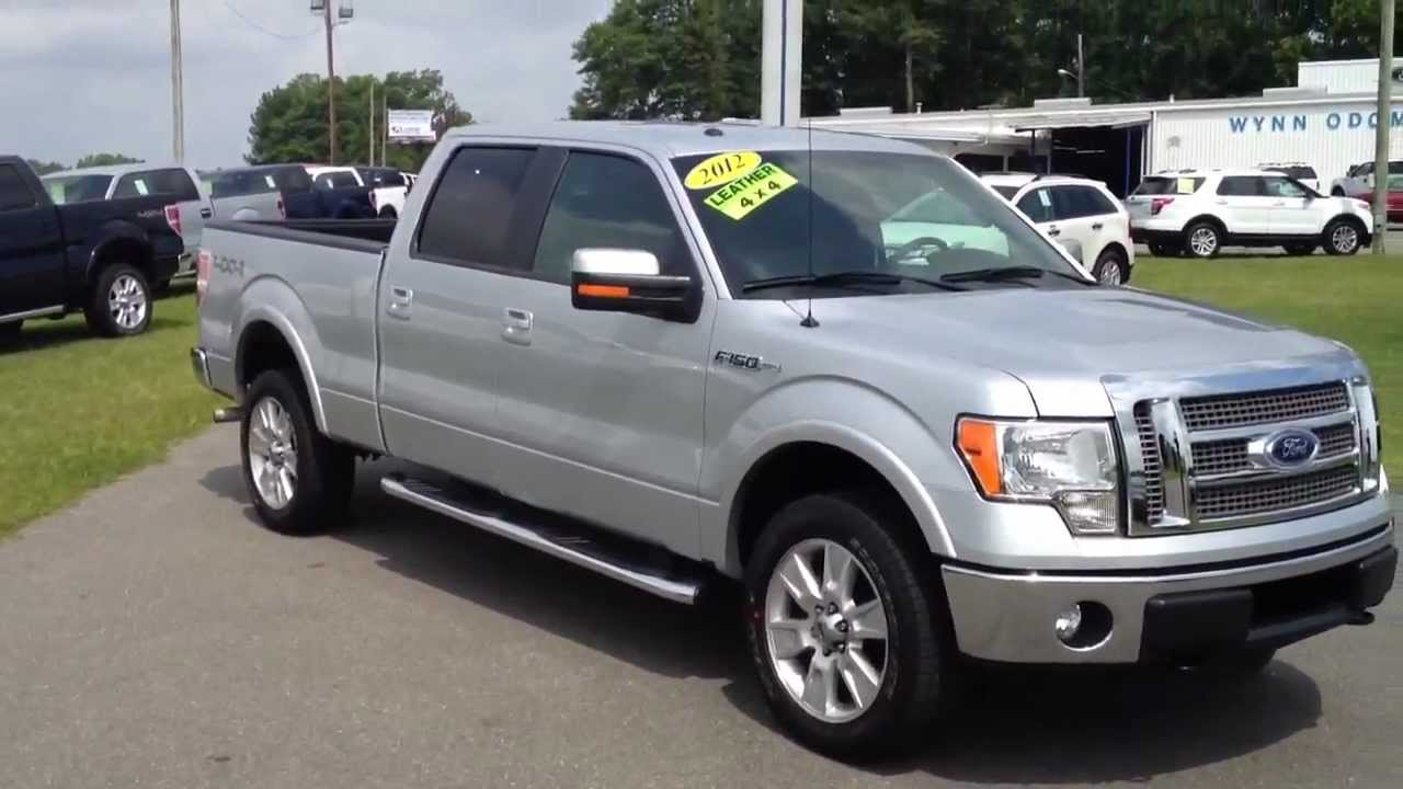 2012 Ford F 150 Lariat Supercrew Long Bed Ingot Silver For