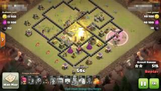 Clash Of Clans ✮ TH8 War Strategy - GoVaHo Raid ✮ Hero 10