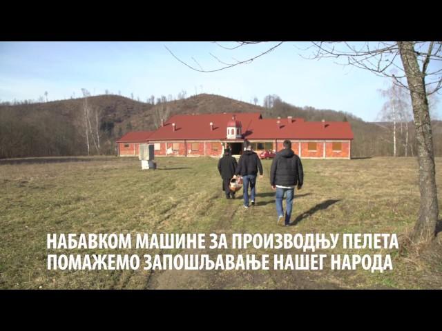 Pogon za proizvodnju peleta u Manastiru Komogovina - Srbi za Srbe