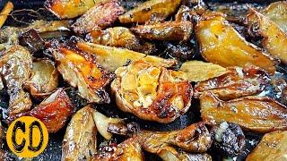 Вкуснейший ТОПИНАМБУР (Земляная Груша) . Жареный топинамбур с грибами и чесноком. Cooking Day