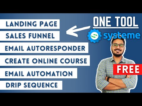 One Tool for your Online Business   FREE #clickfunnel alternative   Systeme.io Complete Tutorial
