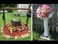 Нетрадиционные цветочные горшки Для дачи из того что было