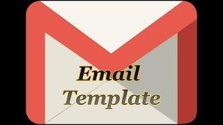 كيفية إنشاء قالب البريد الإلكتروني في G-جناح Gmail