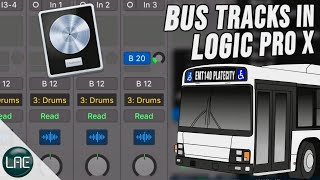 How to Set up Busses to save CPU in Logic Pro X