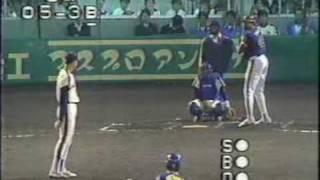 1989年 オリオンズVSブレーブス最終戦 8回表 川崎球場
