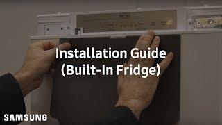 How To Install Samsung Slide Mounting Built-In Fridge