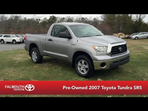 Pre Owned 2007 Toyota Tundra Sr5 Regular Cab 4x4 For Sale At
