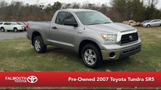 Pre-Owned 2007 Toyota Tundra SR5 Regular Cab 4X4 for sale at Falmouth Toyota, Bourne MA...