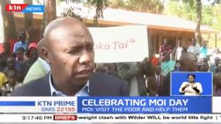 Kenyans celebrated Moi day with Baringo senator Gideon Moi visiting Kabarnet School