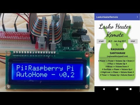 Control home appliance using phone - AutoHome - IoT for Home Automation - Raspberry Pi version